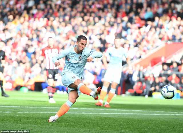 Chelsea punished that miss from Ings after half an hour when playmaker Hazard fired home to give the visiting side the lead