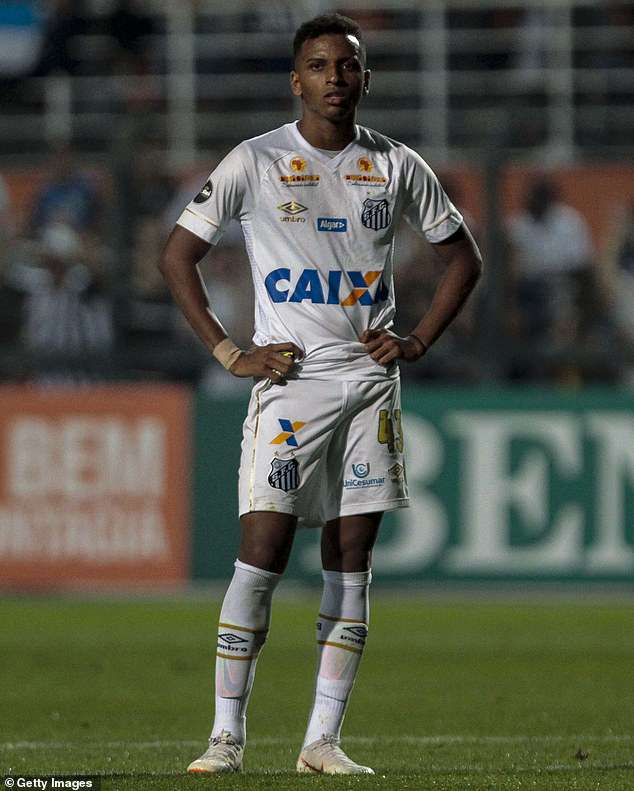 Big things are expected from17-year-old Brazilian forward Rodrygo of Santos in the future