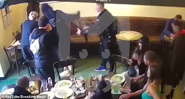 The Zenit St Petersburg striker struck the trade ministry official with a chair in a Moscow cafe