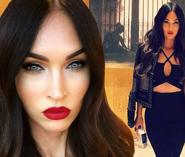 Megan Fox Models Vampire Glam In Black Leather Outfit After She Was Accused Of Having Surgery