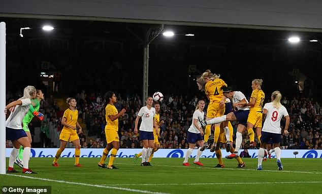Despite England's dominance,Clare Polkinghorne rises to head in a late leveller for Australia