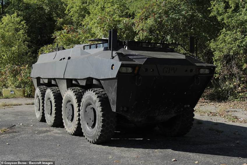 However, a group of Michigan friends decided to take a 'unique' military vehicle and make it road legal.Manufactured by General Purpose Vehicles, the Colonel Truck it was intended for military use.