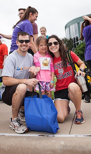Carl and Heather looked on proudly as Elizabeth competed in a triathalon last weekend