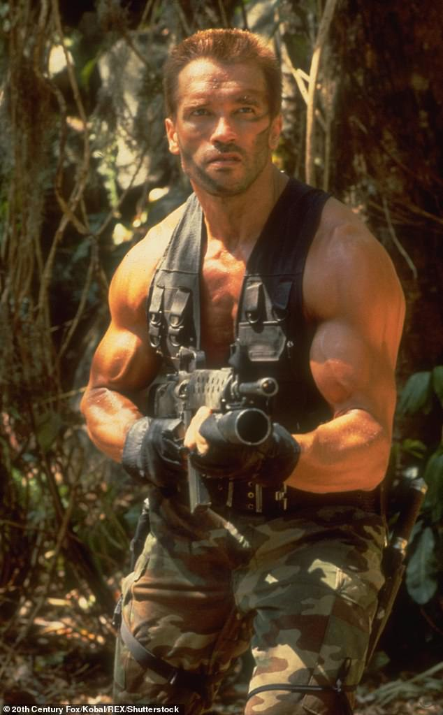 Making amends: Arnold said he and his administration took sexual harassment course after he was voted in as California governor in 2003; the actor is pictured in the 1987 hit film Predator