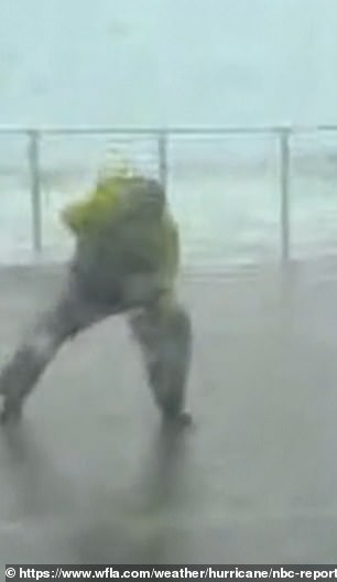 The notorious meteorologist also attracted attention for rescuing NBC's Kerry Sanders who was nearly blown off his feet