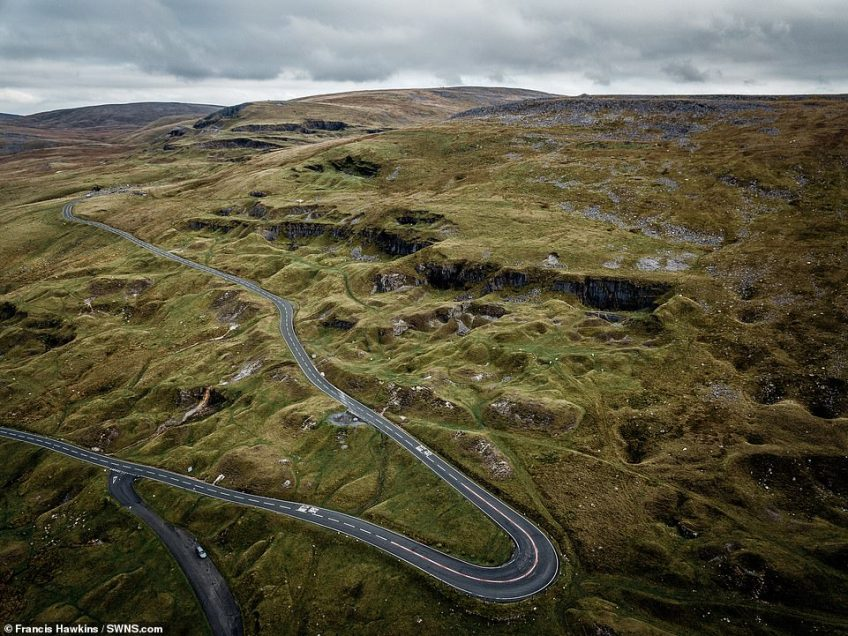 Taking fourth spot on the list is the A4069, also known as the Black Mountain Road, which takes in the stunning scenery of the Brecon Beacons in Wales