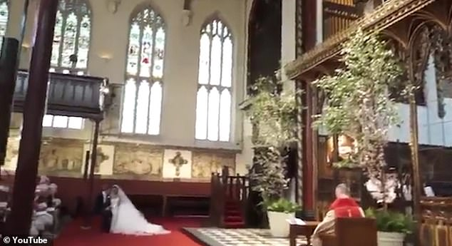 Extravagant: The couple's stunning wedding venue is also captured in the short film
