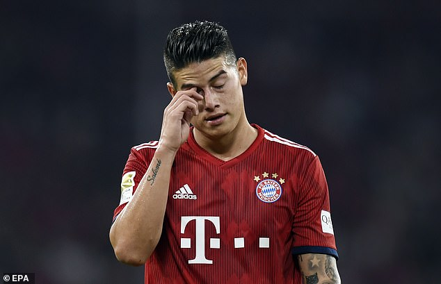 Rodriguez and Bayern are without a win in their last four games in all competitions
