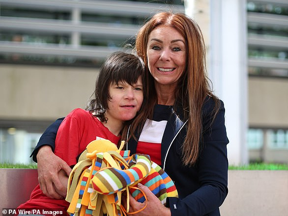 Billy Caldwell's mother Charlotte (pictured together) had seven bottles of cannabis oil confiscated at Heathrow Airport customs, prompting a row over cannabis oil