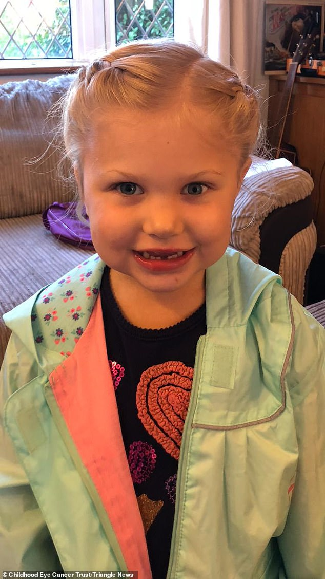 Alice now wears an artificial eye, which she calls her 'special eye'. Emily claims the youngster has adapted to life since the operation 'incredibly', adding it 'doesn't faze her'