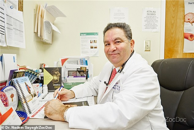 In return for prescribing oxycodone pills, Dr Nadem Sayegh (pictured) allegdly received more than  $100,000 in cash as well as 'expensive dinners, high-end whisky, cruises, and all-expense-paid trips'