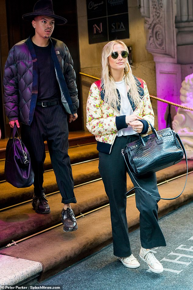 Stepping out: Ashlee Simpson and Evan Ross have joined up to become a showbiz power couple, and were glimpsed stepping out in New York together Thursday