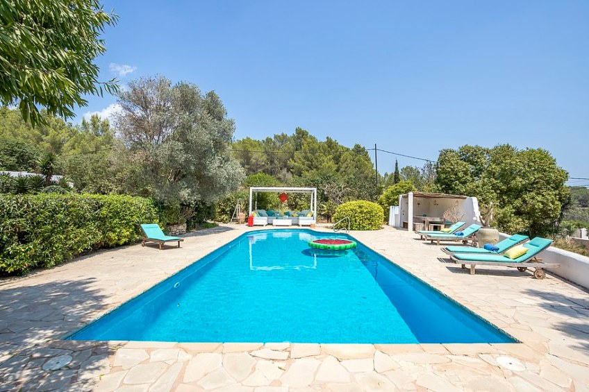 The villa's swimming pool is sure to make a splash with the new owners