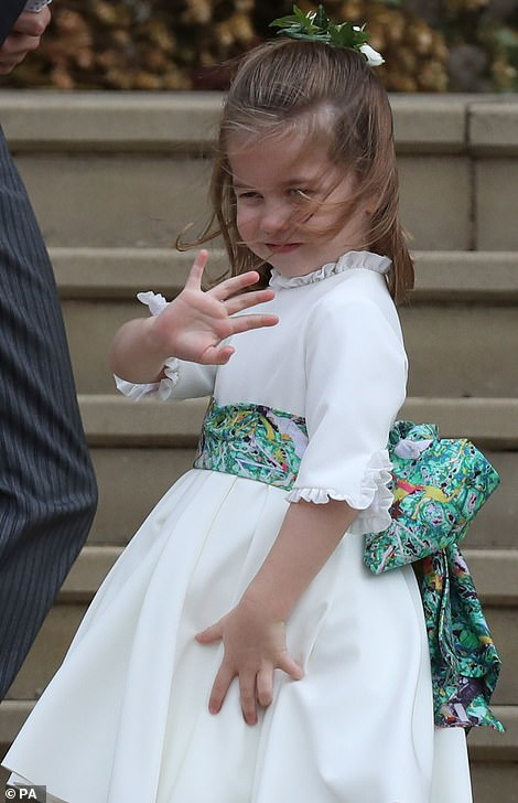 Her second cousin Princess Charlotte has already learned from the best and is known for her adorable royal wave