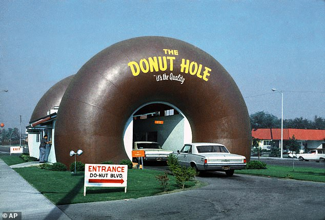 Dough! A picture of the wacky Donut Hole taken back in 1970