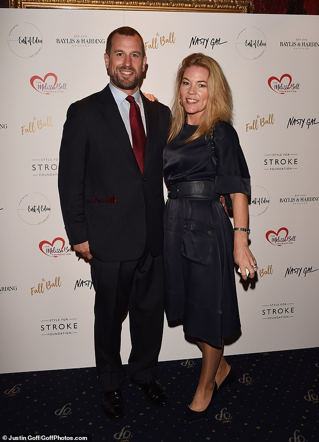 Stepping out: Autumn and Peter Phillips were dressed to impress at the event