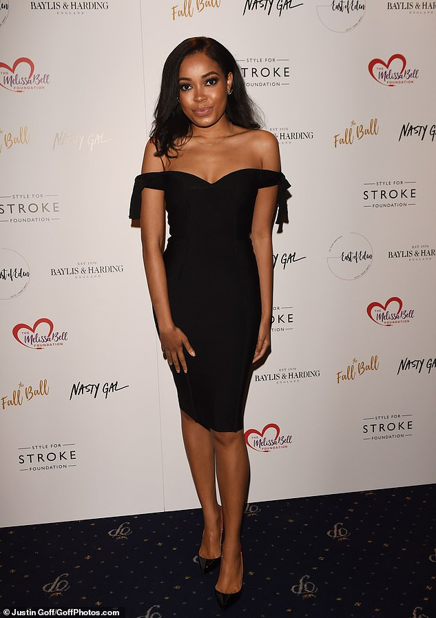 Pretty: Dionne Bromfield made a big impression in a simple off-the-shoulders black dress