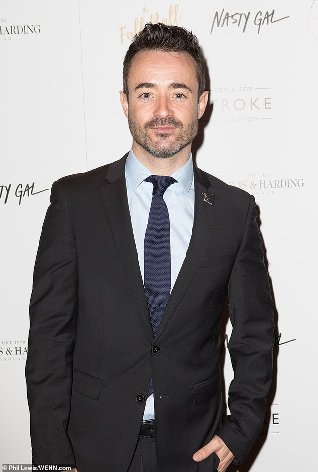 Stepping out in style: Joe McFadden was putting in a smart appearance in a black suit