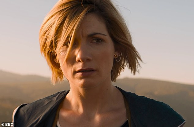 Welcome return: Doctor Who fans finally got a glimpse as the all-new TARDIS as we saw our new time travel team marooned on a deserted alien planet