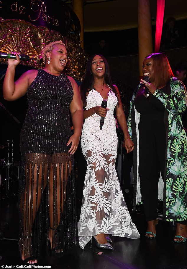 Belters: The ladies wowed the guests with a song or two