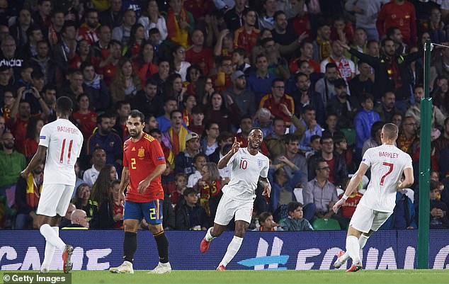 Raheem Sterling was just one of the numerous England players to shine in Seville