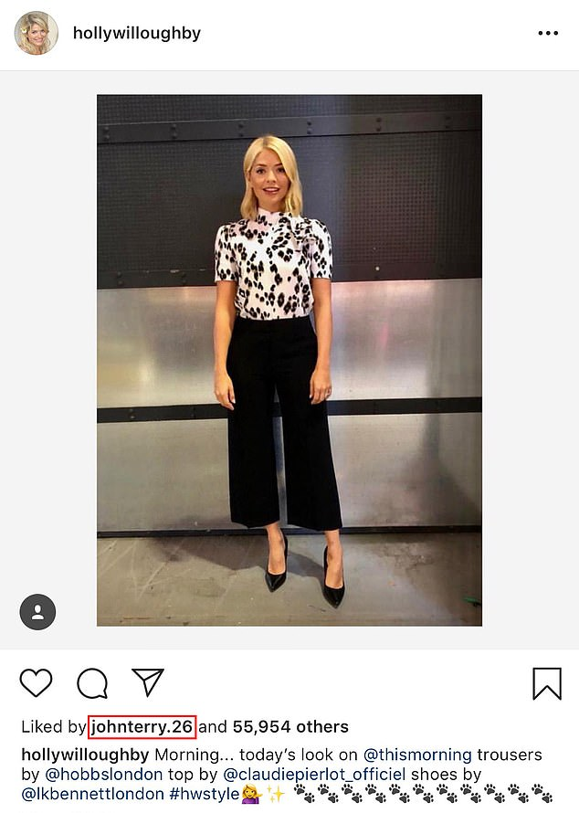 Wild thing! Holly's leopard print look caught the eye of former co-host John