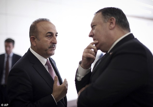 On Wednesday, Pompeo (right) met with Turkish President Recep Erdogan to discuss the investigation into killing of Washington Post columnist Jamal Khashoggi