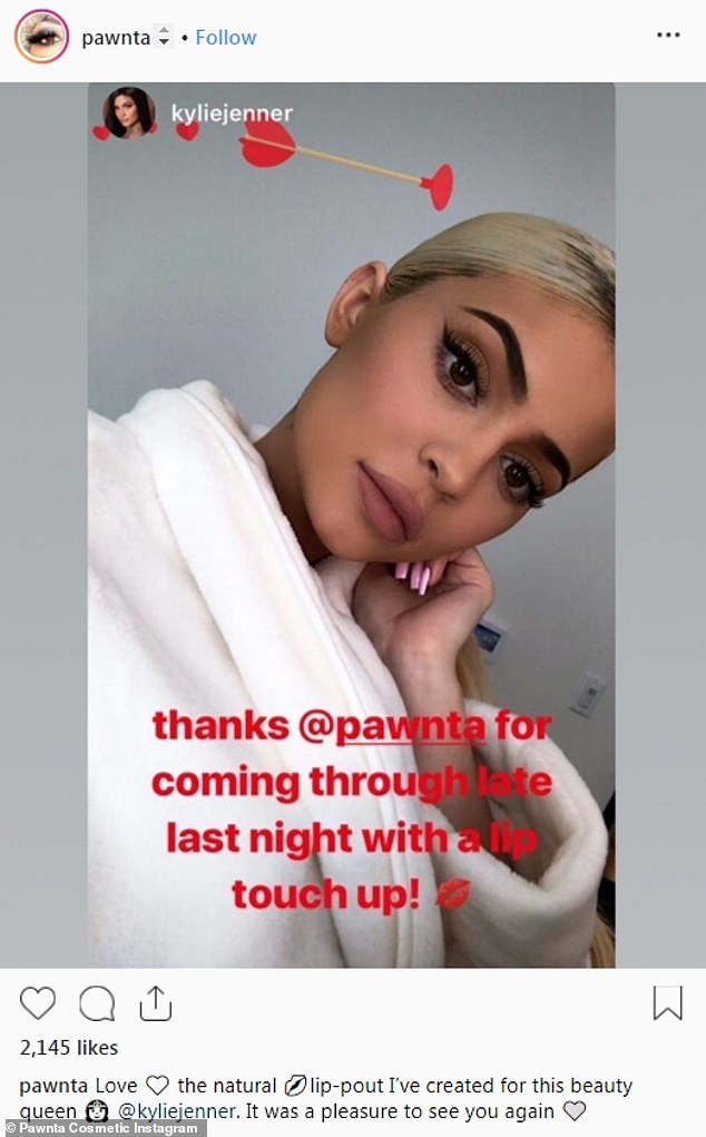 'Just a small touch-up': The registered nurse behind Kylie Jenner's midnight beauty treatment is opening up about the reality star's lip fillers