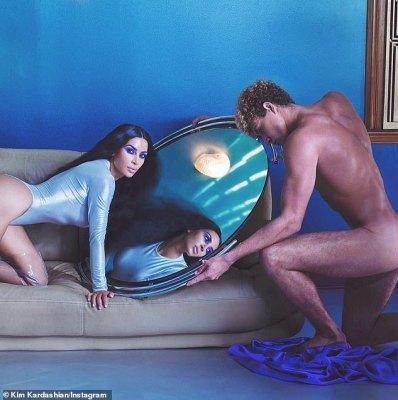 Kim Kardashian promotes eye shadow with nude photo