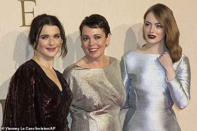 Stealing the spotlight: Rachel, Olivia and Emma looked incredible in their gowns