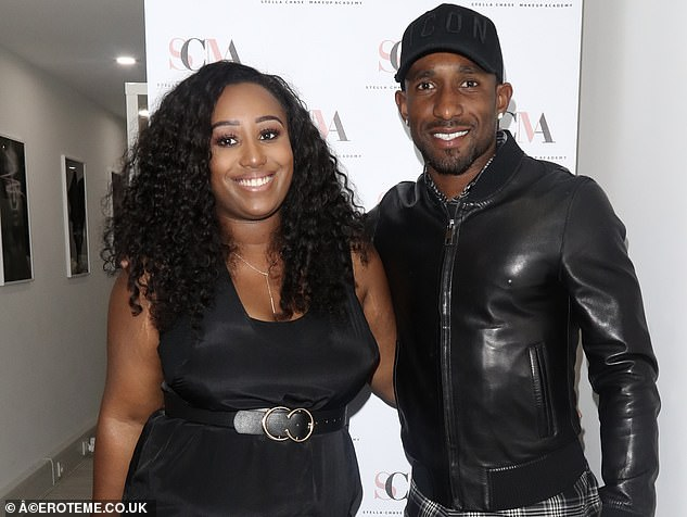 Defoe (right) attended the launch of his sister Chonte Greenaway's (left) business