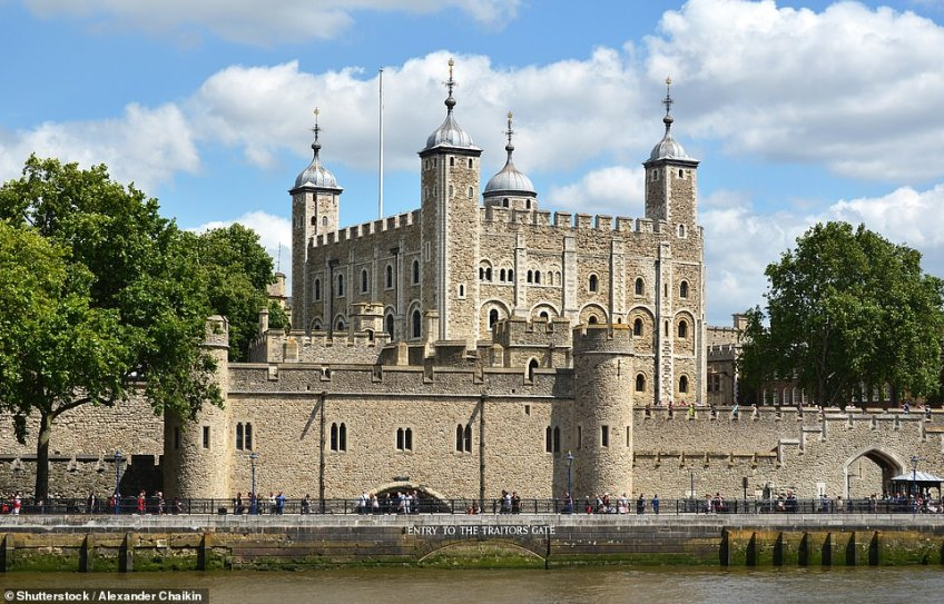 The Tower of London, pictured, offers private showings of the nightly ritual known as the Ceremony of the Keys and exclusive tours of the building for groups of up to 20