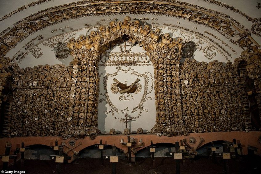 The Capuching Crypt, also known as the Bone Chapel, tucked beneath the streets of Rome. One late night tour allows visitors into the chapel and Rome's Catacombs after the doors close to the general public