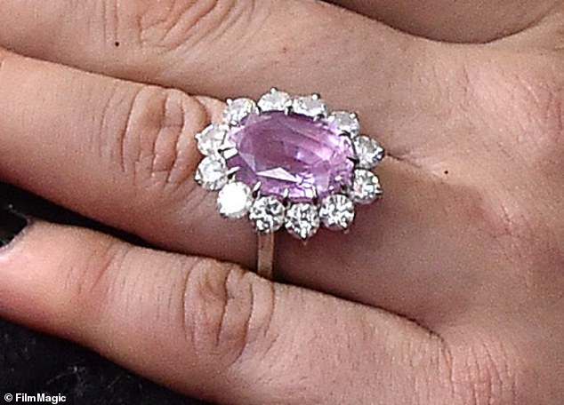 Amazing: The incredible ring is estimated to be worth $1 million and reportedly features either a pink sapphire or diamond gemstone in the center