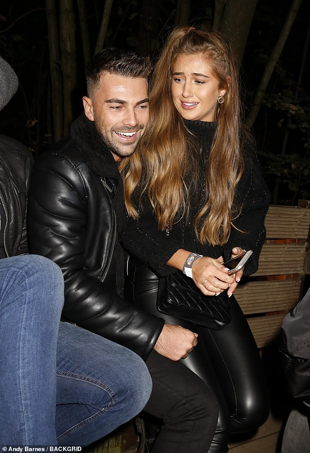 Former flames: The duo met on Love Island over the summer and had been inseparable since leaving the villa, often attending glitzy events together (pictured last week)