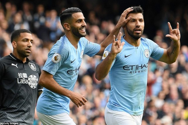 Sergio Aguero broke the deadlock for Manchester City as the hosts made their dominant start pay on the scoresheet