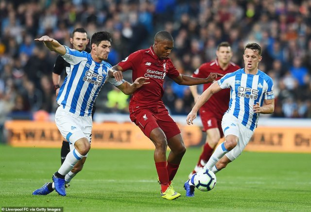 Liverpool striker Sturridge in action as the Reds looked to maintain their unbeaten start to the Premier League season