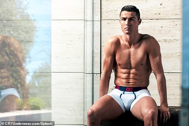 Huge images of forward Ronaldo modelling underwear currently adorn sites in Turin