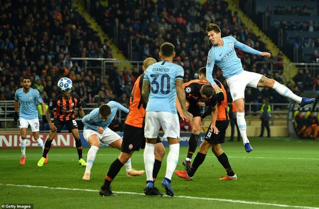 Manchester City defenderAymeric Laporte doubles their lead with a header from a Kevin De Bruyne cross five minutes later