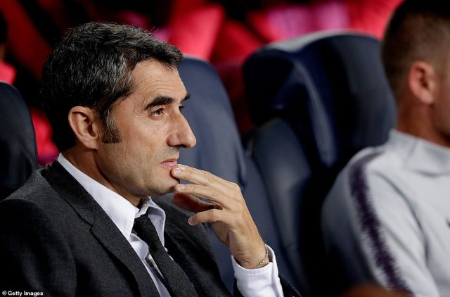Ernesto Valverde largely remained in his seat as he surveyed the play in front of him in a tight contest