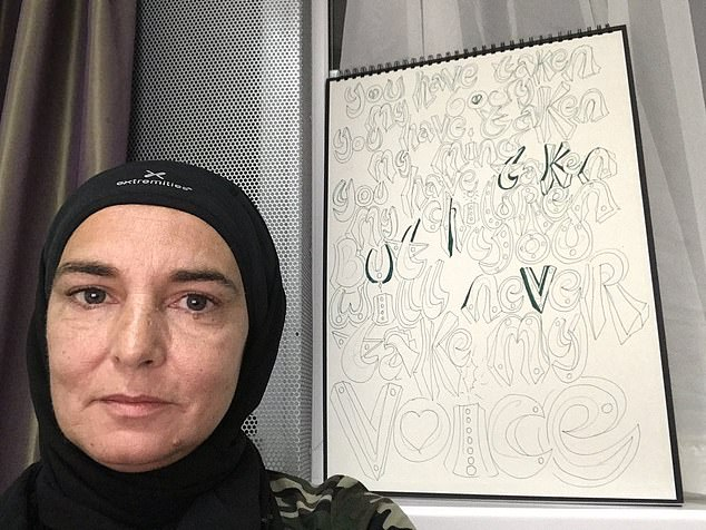 Sinead O'Connor shared this picture of herself on Twitter as she announced her conversion to Islam
