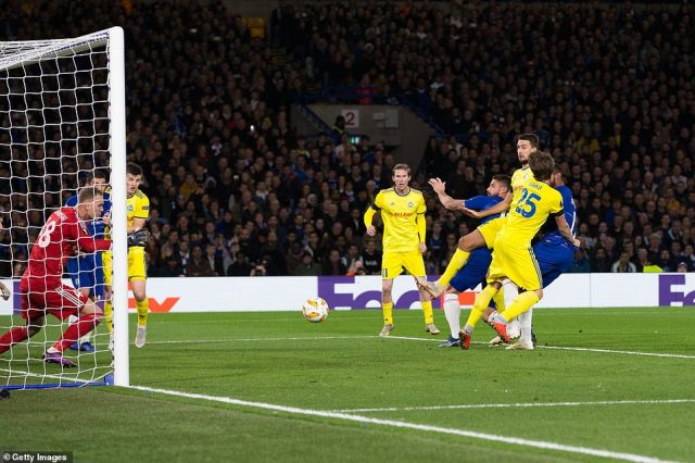 Loftus-Cheek guided the ball into the net with a sly touch on a good cross to put Chelsea 2-0 up inside the opening 10 minutes