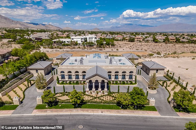 A view from above of the new property that the 41-year-old Mayweather has purchased