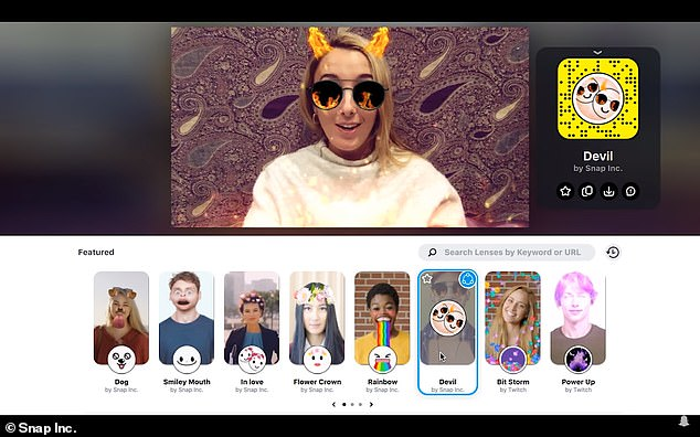 Snap Camera is a free desktop app that users can download to bring a range of fun, interactive lenses, including the cat face, to their computer's webcam