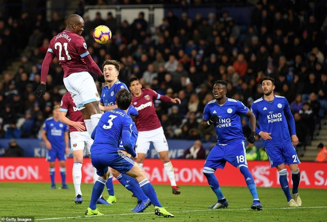 As Leicester threw everyone forward for an equaliser, Angelo Ogbonna almost scored with his first touch after coming on
