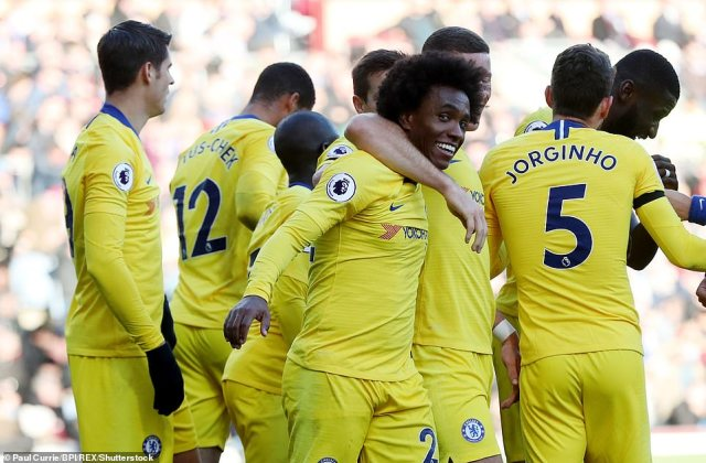 Chelsea are now up to second in the Premier League table and remain in touching distance with league leaders Liverpool