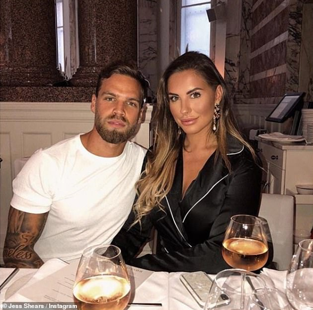 Smitten: The stunning model, 25, and former career advisor, 27, who met on Love Island in 2017, took to Instagram to share a sweet picture of their news
