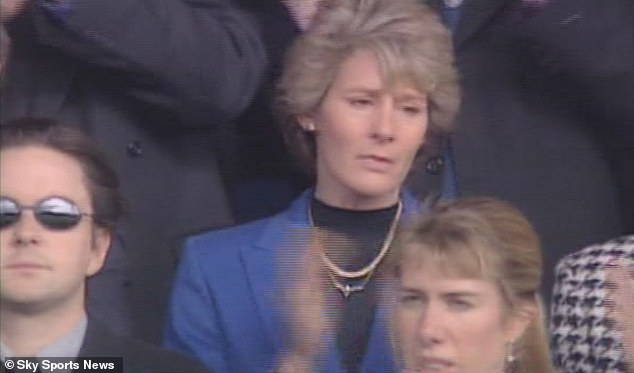Harding's wife Ruth was at the bottom of the Tottenham game four days after the accident