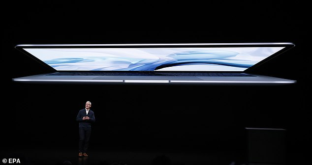 The Air has up to 16GB of faster storage, twice the capacity of the previous Air. Two USB-C ports are on the air and the speakers are 25 percent louder