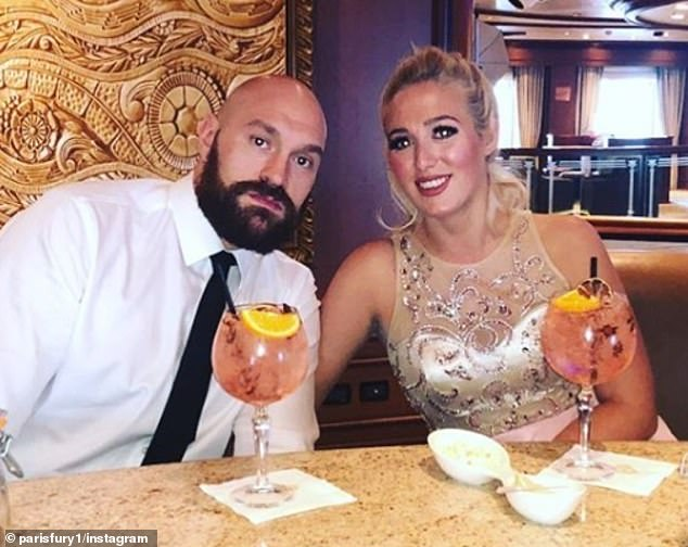 Tyson Fury has revealed his wife Paris (right) told him he was 'too fat' to return to boxing